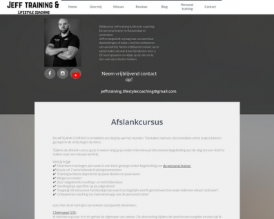Jeff training & Lifestyle coaching